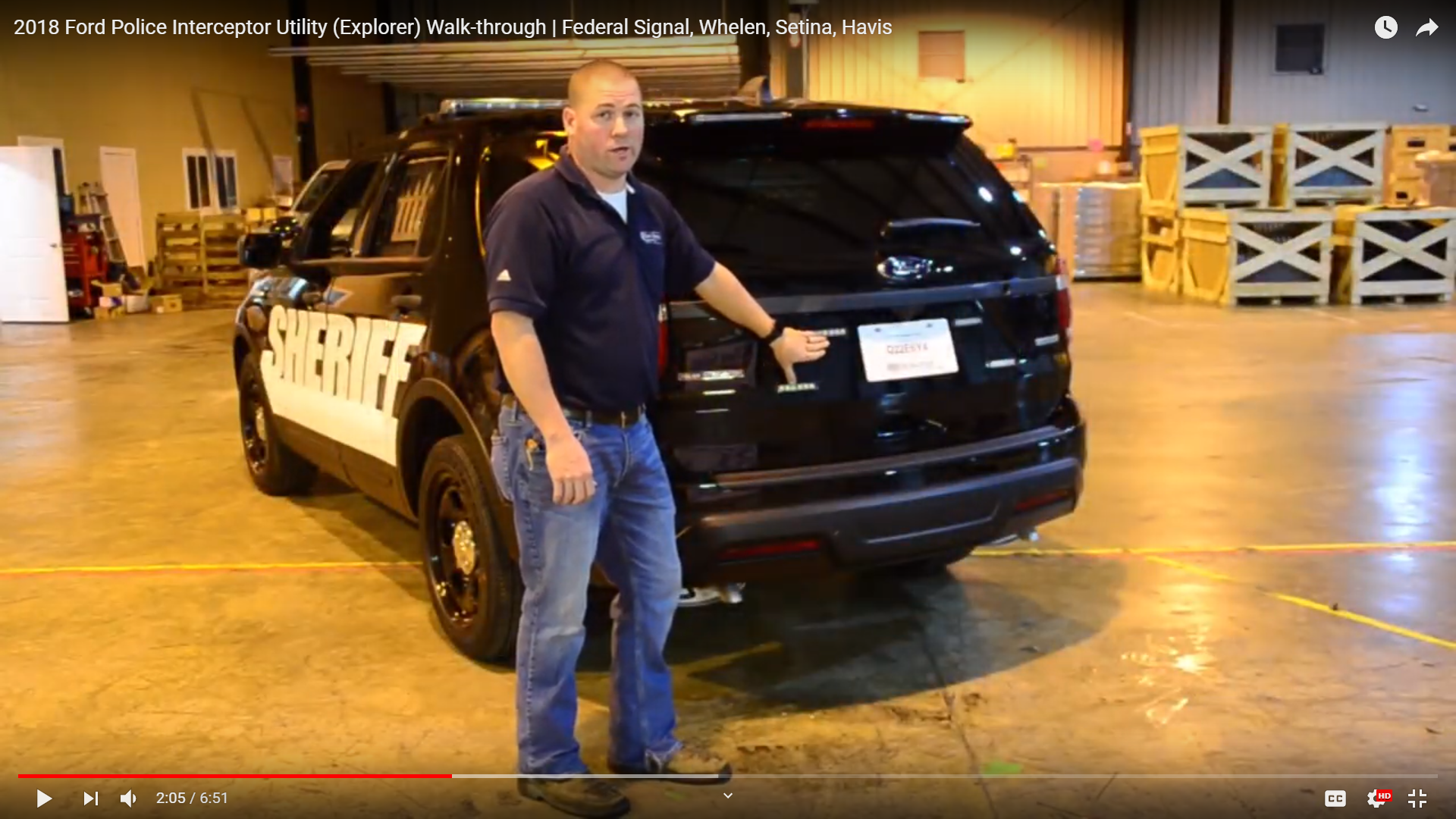 Video Showing Ford Explorer With Light Package